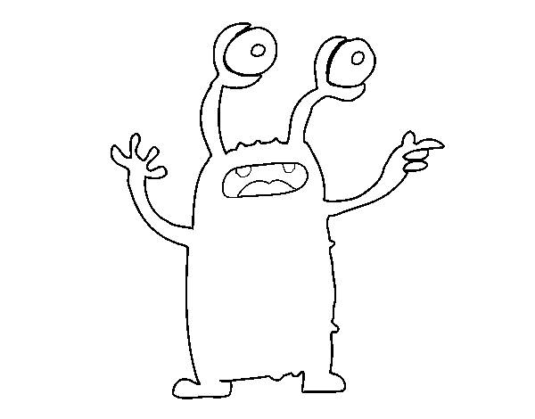 Free coloring and drawings Magical alien Coloring page
