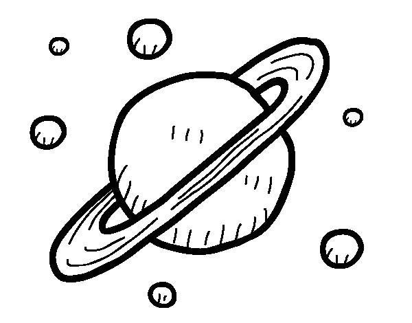 Free coloring and drawings Planet Saturn to print Coloring page