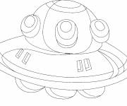 Coloring pages Pure UFOs  the little