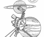 Coloring pages Satellite Discovery