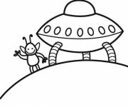 Coloring pages Space shuttle from an extraterrestrial