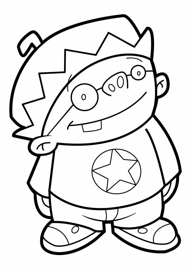 Free coloring and drawings The Little Vector Discoverer Coloring page