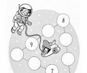 Coloring pages UFO Figures and Circles