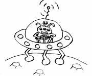 Free coloring and drawings UFOs for Children Coloring page