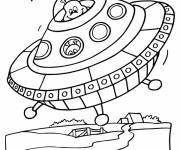 Coloring pages UFOs for download