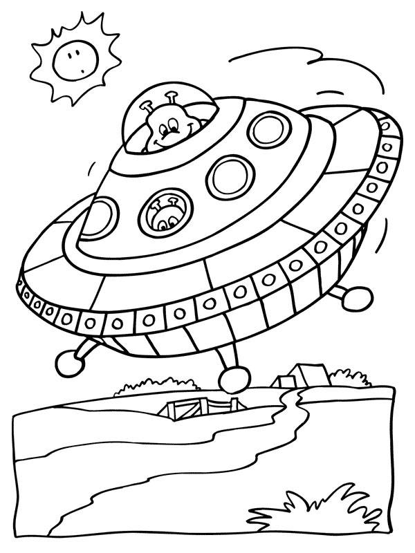 Free coloring and drawings UFOs for download Coloring page
