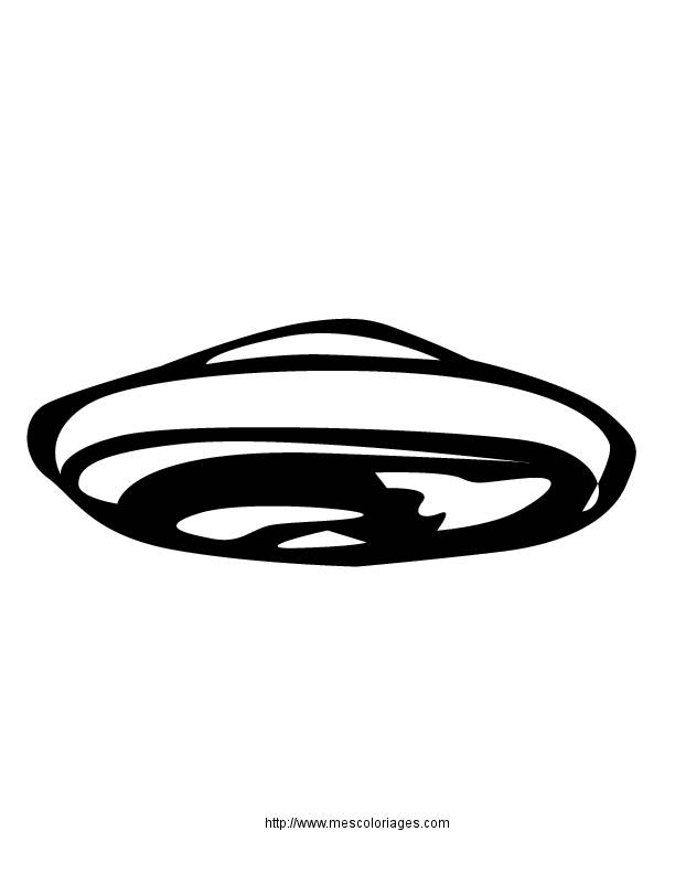 Free coloring and drawings UFOs in vector to download Coloring page
