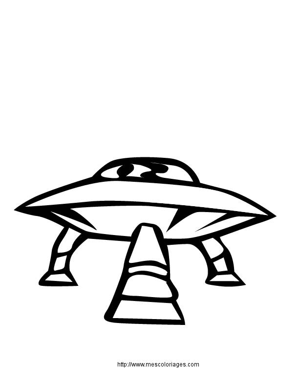 Free coloring and drawings UFOs on computer Coloring page