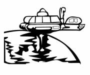 Coloring pages UFOs to decorate