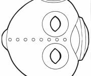 Coloring pages Vector flying saucer