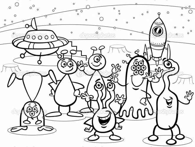 Free coloring and drawings XOo and foreign Disney Coloring page
