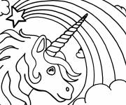 Coloring pages Beautiful unicorn