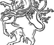 Coloring pages Cut out unicorn