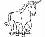 Coloring pages Cute unicorn