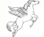 Coloring pages Easy flying unicorn