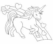 Coloring pages Easy unicorn