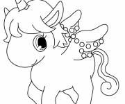 Coloring pages Jewelpet Unicorn