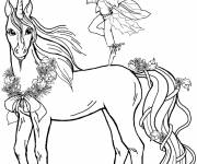 Coloring pages Magic unicorn