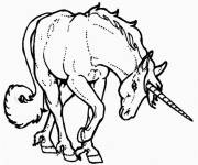 Coloring pages Maternal unicorn