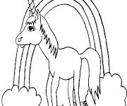 Coloring pages Rainbow unicorn