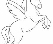Coloring pages Simple unicorn