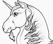 Coloring pages Unicorn head in color