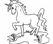 Coloring pages Unicorn looking at you