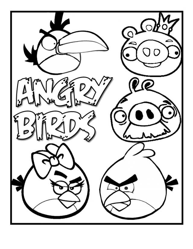 Free coloring and drawings Angry Birds Games for kids Coloring page
