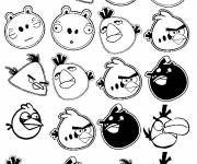 Coloring pages Angry Birds Video Game Characters
