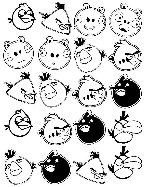Free coloring and drawings Angry Birds Video Game Characters Coloring page