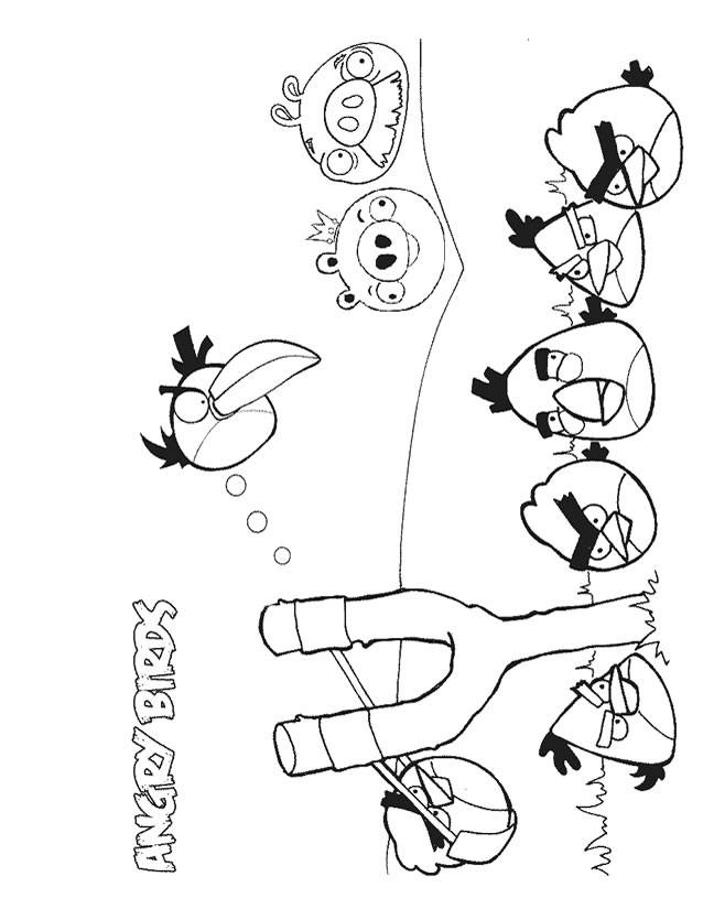 Free coloring and drawings Angry Birds video games Coloring page