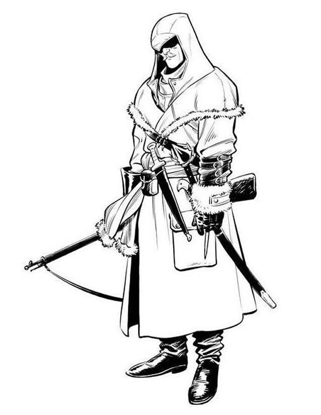 Free coloring and drawings Assassin's creed unity Coloring page