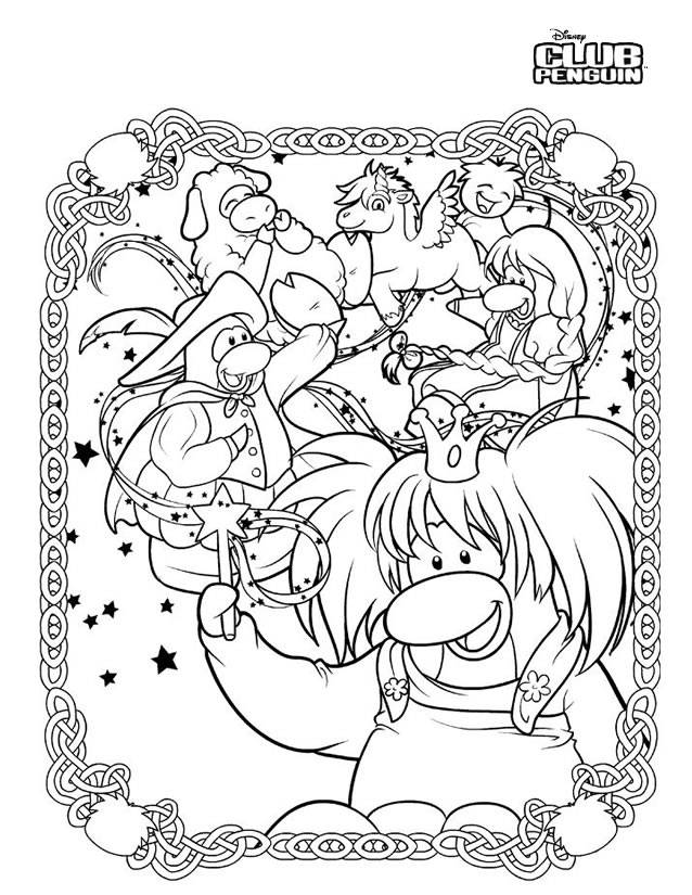 Free coloring and drawings Club Penguin to relax Coloring page