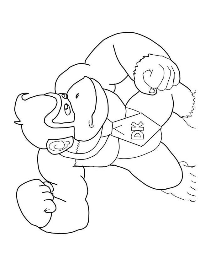 Free coloring and drawings color Donkey Kong video games Coloring page