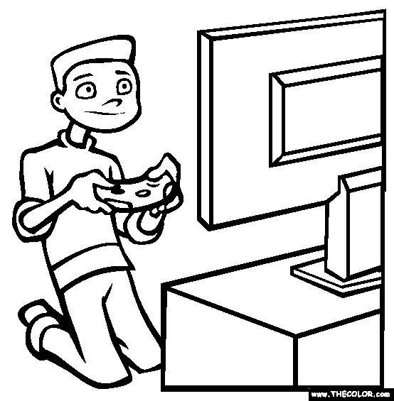 Free coloring and drawings Coloring Video Games Coloring page