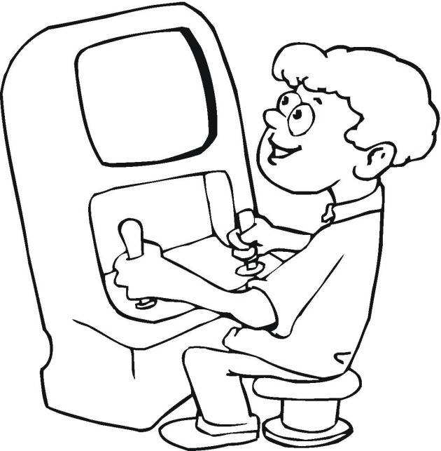Free coloring and drawings Cutting Video Games Coloring page