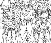 Coloring pages Dragon Ball Z Characters to print