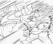 Coloring pages Dragon Ball Z video games