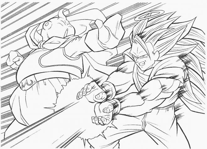 Free coloring and drawings Dragon Ball Z video games Coloring page