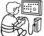 Free coloring and drawings Easy Video Games Coloring page