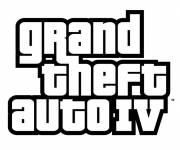 Coloring pages Grand Theft Auto Logo