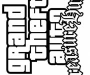 Coloring pages Grand Theft Auto Video Games