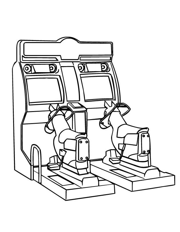Free coloring and drawings Kindergarten playroom Coloring page