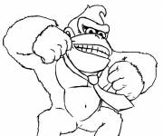Coloring pages King Kong video games to cut