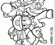 Coloring pages Mario video games vector