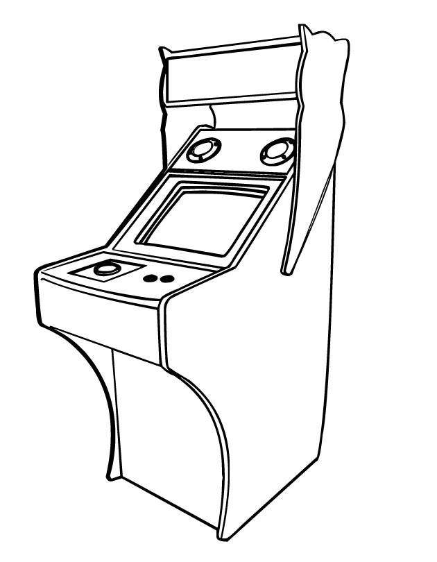 Free coloring and drawings old video games Coloring page