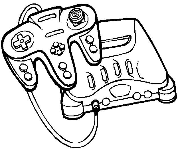 Free coloring and drawings Play Station Video Games Coloring page