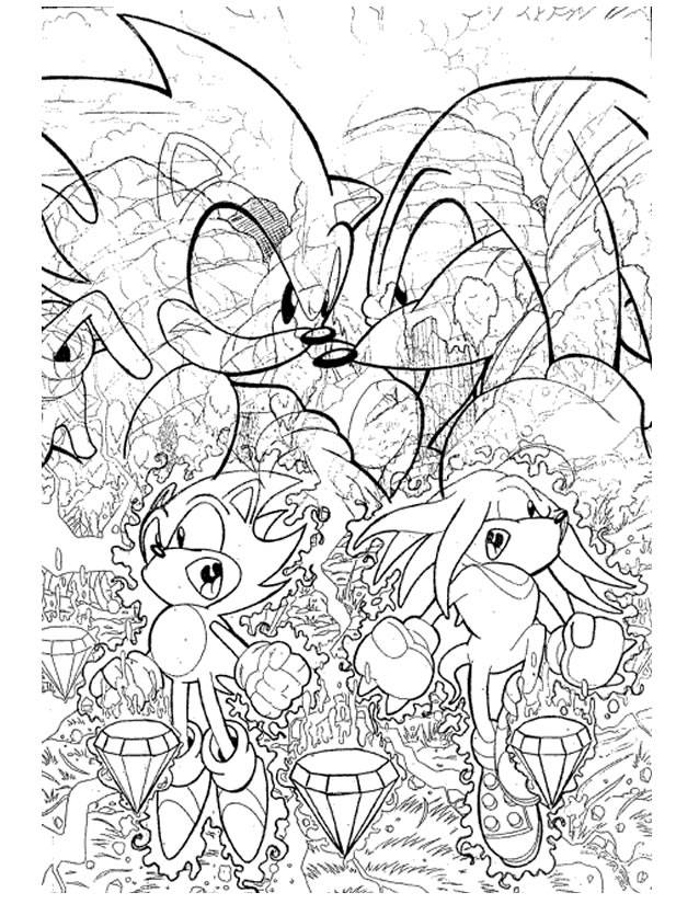 Free coloring and drawings Sonic Boom video games Coloring page