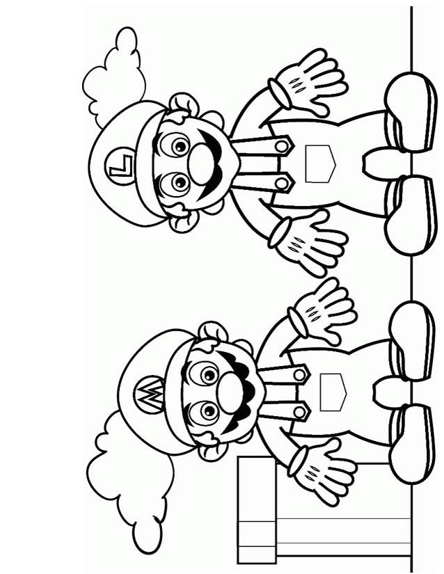 Free coloring and drawings Super Mario and Luigi video games Coloring page