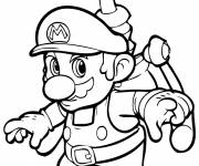 Free coloring and drawings Super Mario Video Games Coloring page